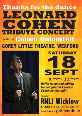 leonard cohen 18th sept gorey little theatre
