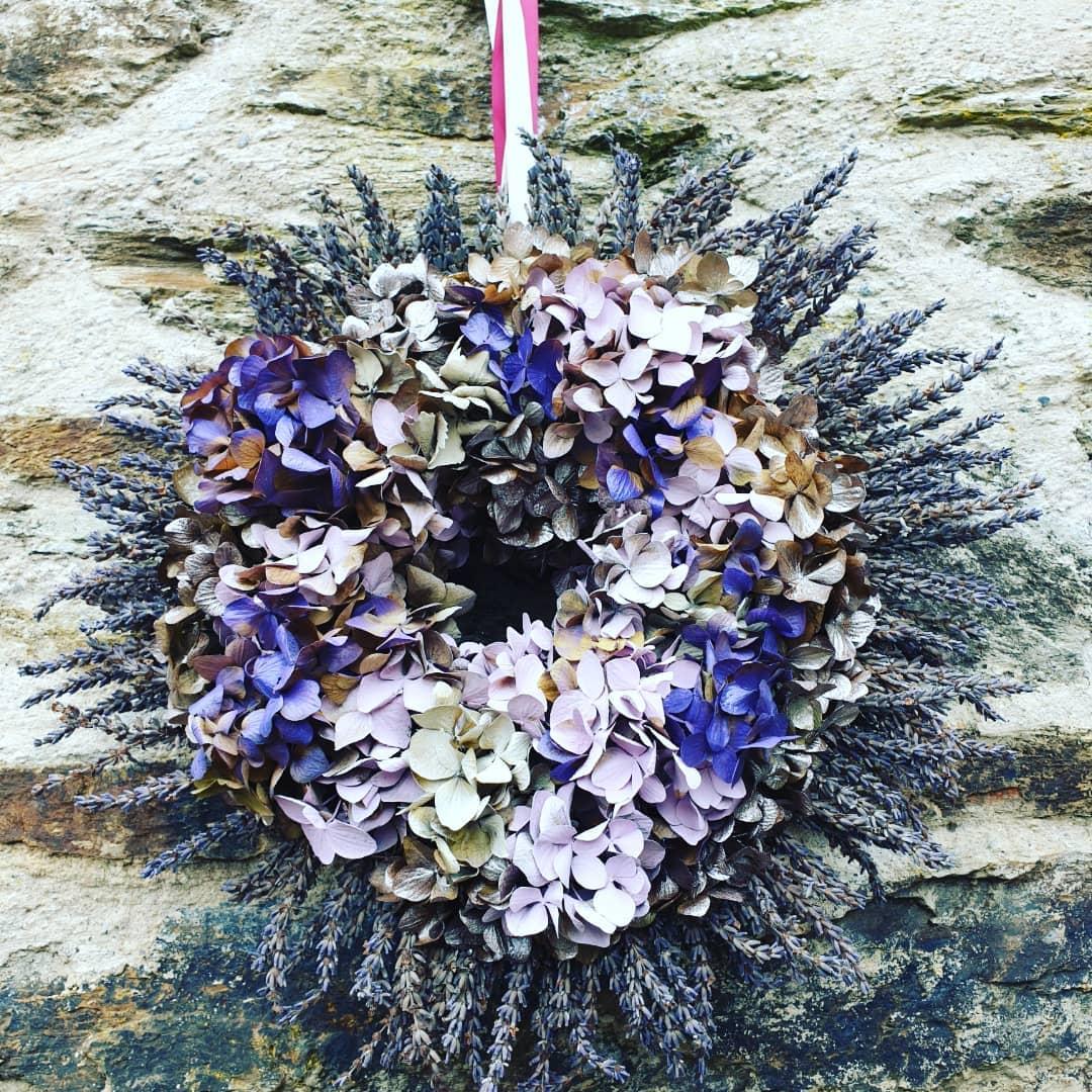 wreath making at Wexford lavender farm