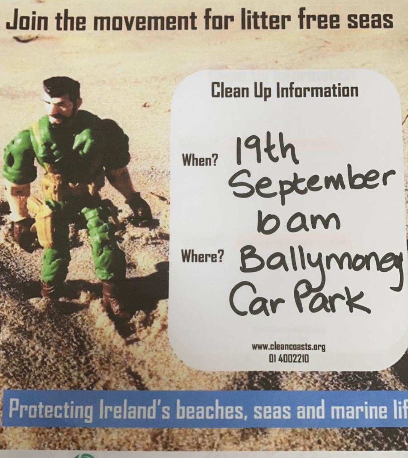 Ballymoney beach clean up