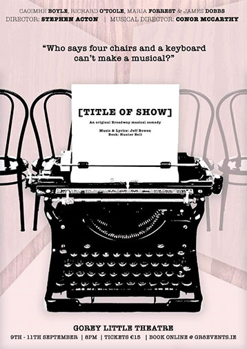 title of the show Gorey little theatre