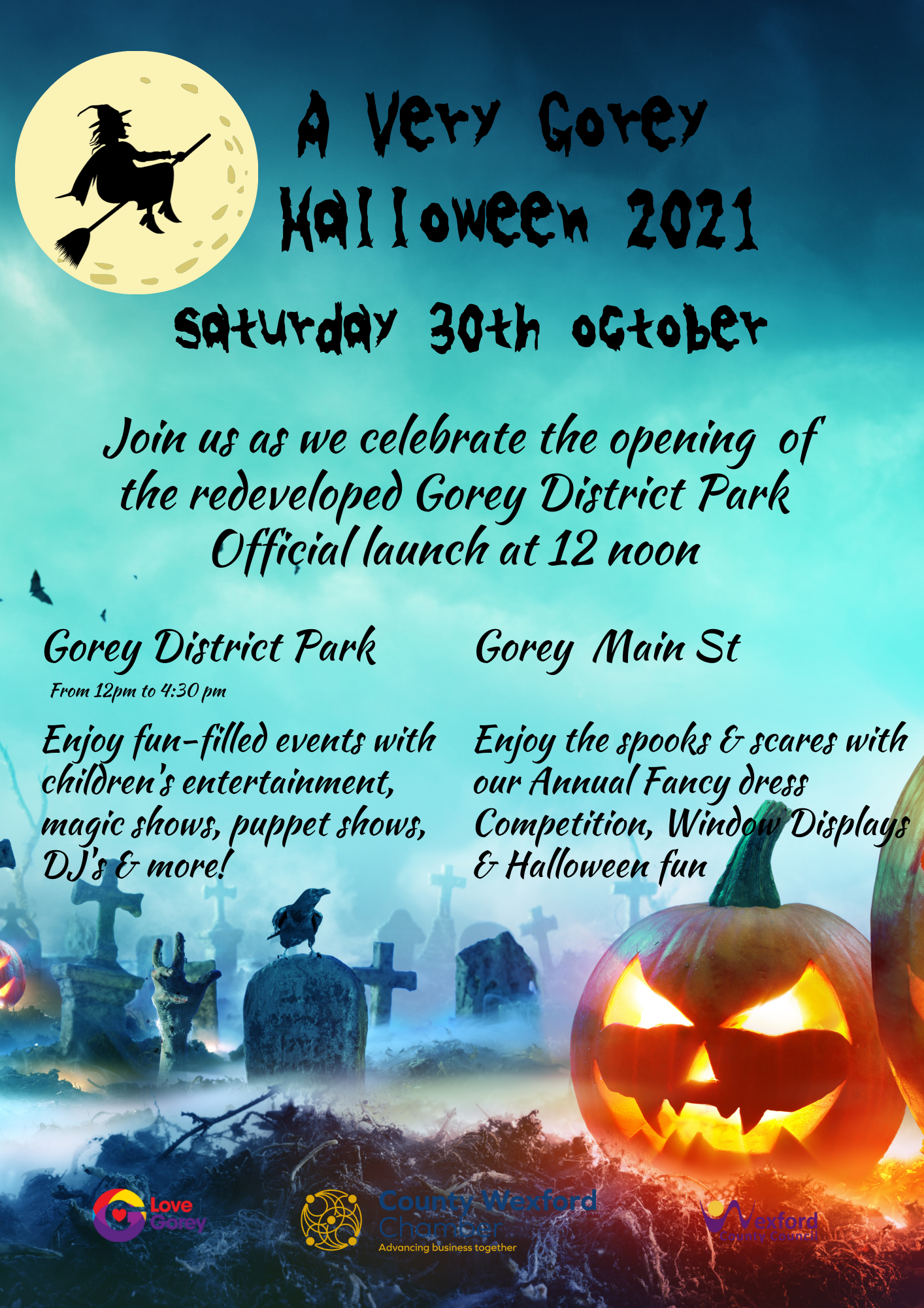 Gorey Halloween and District park launch 30th October